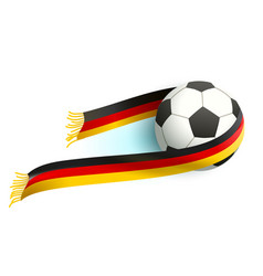 Soccer ball and german flag scarf support fans vector