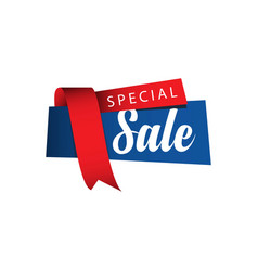 special sale ribbon template design vector image