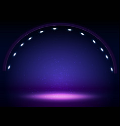 Stage lights circle projectors in the dark vector
