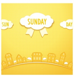 Sunday city vector