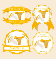 The theme chanterelle vector