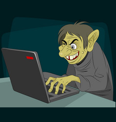 Ugly internet troll vector