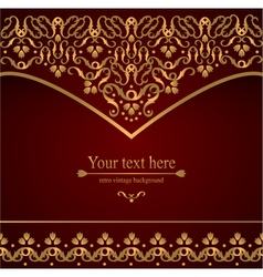 Victorian retro background pattern with curls vector