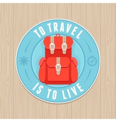 vintage badge - flat icon Travel concept vector image