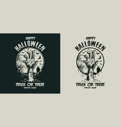 Vintage halloween scary badge vector