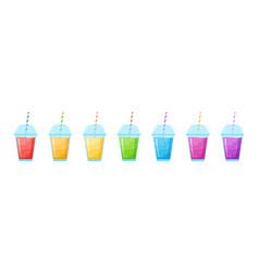 Vitamin smoothie cocktail summer set vector