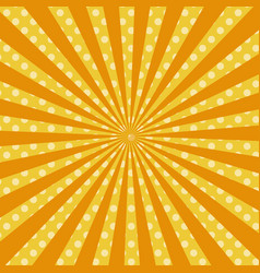 warm orange pop art retro comic background vector image