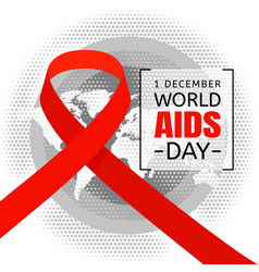 World aids day concept background flat style vector