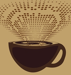 A cup of coffee and aromatic fragrance vector image