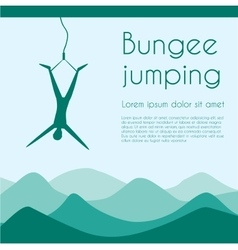 Bungee jumping vector