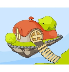 cute house in air vector image