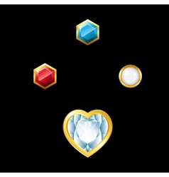 Gems with holder vector image