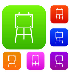 wooden easel set collection vector image
