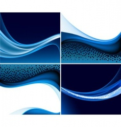 abstract wave set vector image vector image