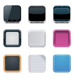 backgrounds for square icons vector image