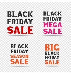 black friday sale message set vector image