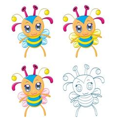 Cartoon chibi fantasy creatures vector image vector image