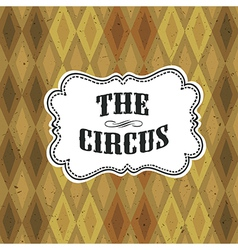circus diamon pattern vector image