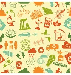 Environment ecology seamless pattern Environmental vector image