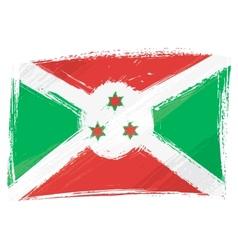 Grunge Burundi flag vector image vector image