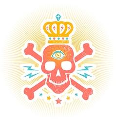skull eye vector image vector image