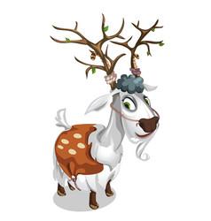 sly deer dressed in the skin of a ram vector image