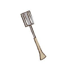spatula utensil kitchen picnic vector image vector image