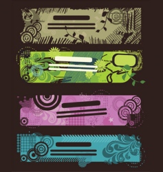 tribal banners vector image vector image