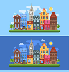europe spring city banners vector image