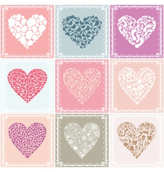 heart collections vector image vector image