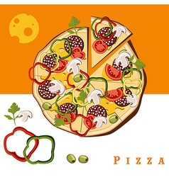 pizza food vector image vector image