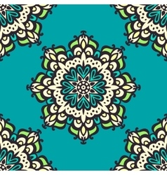Seamless mandala pattern Hand drawn background vector image vector image