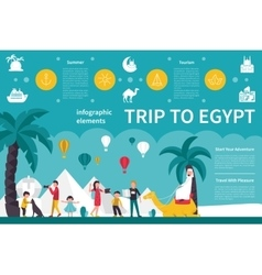 Trip to egypt infographic flat vector