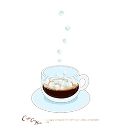 A Cup of Coffee con hieto with Ice Cream vector image vector image
