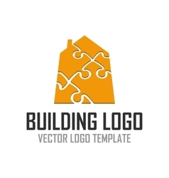 Logo pattern construction vector image vector image
