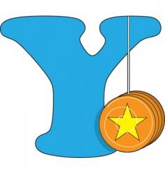 y is for yoyo vector image vector image