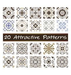 20 Attractive Patterns Art 01 vector image