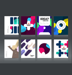Abstract business brochure design vector