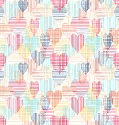 abstract colorful seamless pattern with hearts vector image