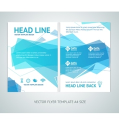 abstract geometric wave brochure flyer vector image