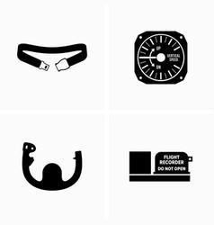 Aircraft equipment helm altimeter belt and flight vector