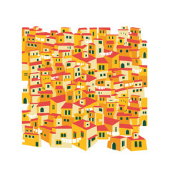 arabic traditional village east desert tiled vector image