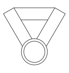award medal ribbon winner sport vector image