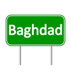Baghdad road sign vector
