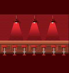 bar or pub with empty stools and tables vector image