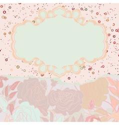 Beautiful retro floral valentine card EPS 8 vector