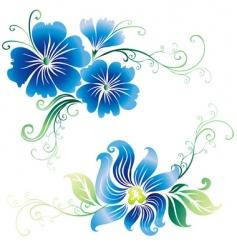 Beautiful vintage ornate flowers vector