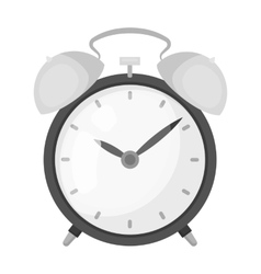 Bedside clock icon in monochrome style isolated on vector image