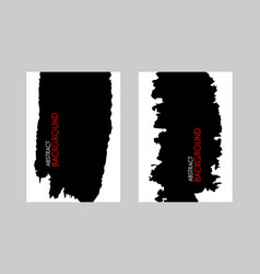 black brush stroke on white background vector image