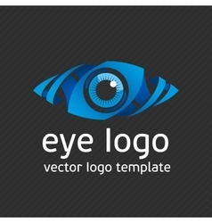 Blue eye logo template vector image